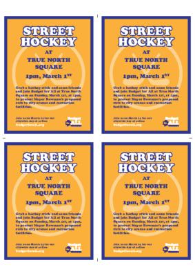 Street hockey Flier